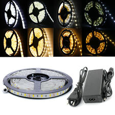 5M 30/60/120LED/m SMD 5630 5050 2835 3528 LED Strip Streifen leiste Band Trafo