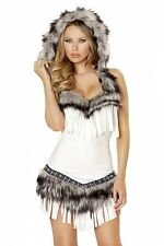 Indiano Costume bianco Nativo Indian Carnevale Notte in costume Made USA