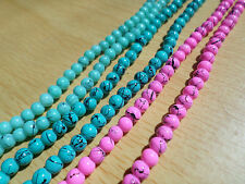 100 x Drawbench Glass Beads - Round - 4mm [Various Colours Available]
