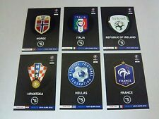 PANINI - ROAD TO FRANCE EURO 2016 - TEAM LOGO + TEAM MATE 2 - TOPMINT to choose