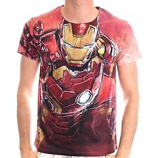 T-SHIRT IRON MAN - BLASTING FULL PRINTED TShirt IRON MAN BLASTING 100% ORIGINALE