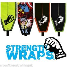 STRENGTH Wraps Extra LUNGO CrossFit Sollevamento Fasce Avvolgenti Per Polso