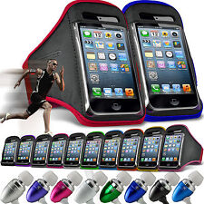 Adjustable Armband Sports Strap Pouch Phone Case✔In Ear Stereo Headset Headphone
