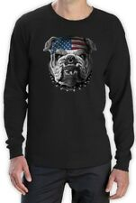 USA Mascot flag Bulldog Army Marine Corps 4th July Long Sleeve T-Shirt USMC