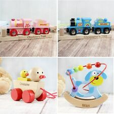 PERSONALISED Childrens Wooden Learning Toys Christmas Birthday Gift Present Idea
