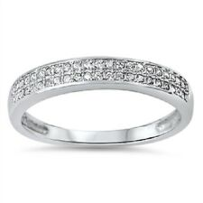 Twin Layer CZ Ring, w/Free Gift Box, 925 Sterling Silver, Comfort Fit, Trendy