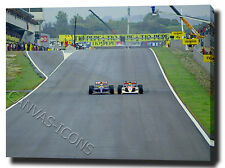 AYRTON SENNA MANSELL CANVAS ART PRINT POSTER PHOTO PICTURE F1 BARCELONA WALL ART