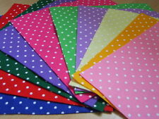 "Polka Dot Spotty Felt Square 12"" x 12"" - 1 Sheet Large - Various Colours"