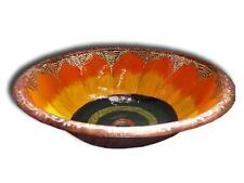Mexican Hand Painted Copper Vessel Sink Round 'Sunflower'