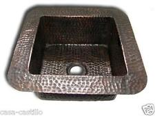 Copper Farmhouse Sink Square 1 Bowl 'Hammered'