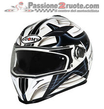 Casco integrale Suomy Halo Class bianco nero