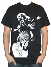 DeathNote - Skulls - Kira Light Yagami Black Anime T-Shirt S M L XL XXL