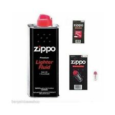 ZIPPO PETROL FUEL LIGHTER FLUID OR 6 FLINTS OR 1 WICK - GENUINE PRODUCTS OPTIONS