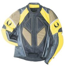 GENUINE BELSTAFF OMEGA Motorcycle Leather Jacket YELLOW | US40-48