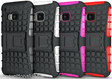PREMIUM STYLE GRIP RUGGED SKIN HARD CASE COVER FOR HTC ONE M9