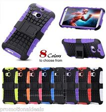 PREMIUM STYLE GRIP RUGGED SKIN HARD BACK CASE COVER FOR HTC One M8