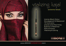 VITALIZING KAJAL EYELINER & WATERLINER INNER EYE LID EXTREME INTENSE BLACK KOHL