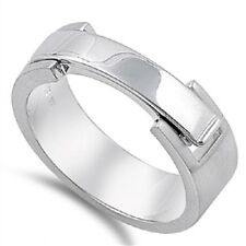 Thin Band Watch Lock Ring, 925 Sterling Silver, Smooth, Glitzy, w/FREE Gift Box