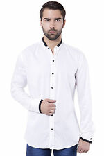 Tag & Trend Men's Cotton Casual Shirt Slim Fit White Color