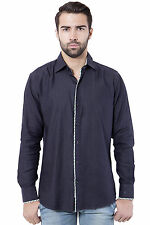Tag & Trend Men's Cotton Casual Shirt Slim Fit Gunmetal Color