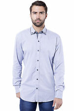 Tag & Trend Men's Cotton Casual Shirt Slim Fit Tufts Blue Color