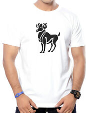 Round Neck Printed T-Shirts for Men - Aries