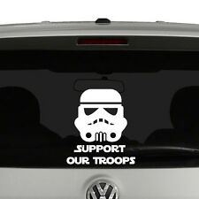 Support Our Troops Stormtrooper Vinyl Decal Sticker Car Window Star Wars