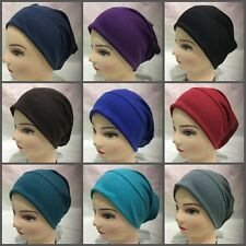 Women Ladies Under Scarf Hijab Tube Bone Bonnet Cap 12 Colours