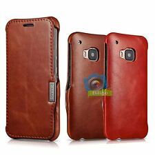 iCareR Genuine Real Leather Wallet Flip Case Cover For HTC One M9【UK】