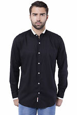 Tag & Trend Men's Casual Shirt Black Color Cotton Fabric