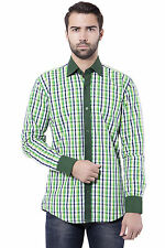 Tag & Trend Men's Casual Shirt Dark Spring Green Color Cotton Fabric