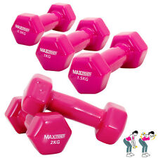 Aerobic ladies Vinyl Dumbell Set Weight Training Strength Home Fitness Workout