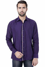 Tag & Trend Men's Casual Shirt Dark Purple Color Cotton Fabric