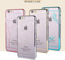 New Luxury Crystal Diamond Transparent Back Case Cover For iPhone 6
