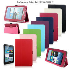 "Pu Leather Smart Stand Case Cover For Samsung Galaxy Tab 2 II 7"" P3100 P3100"