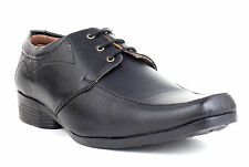 Guava Derby Formal Shoes - Black | Mens Black Formal Shoes