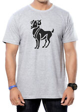 Round Neck Printed Cotton T-Shirts for Men - Aries