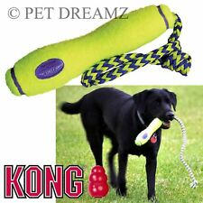 KONG AIR DOG PUPPY AQUA FLOATING FETCH RETRIEVAL STICK ON ROPE TOY - 2 SIZES