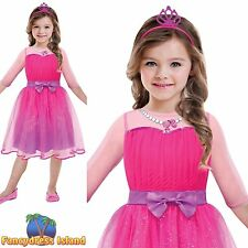 BARBIE PINK PRINCESS PARTY LICENSED age 3-10 girls kid child fancy dress costume