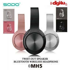 New MH5 Two-Way Bluetooth Super Bass Wireless 2 in 1 Headphones & Speaker Stereo