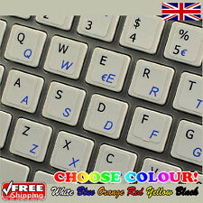Italian Transparent Keyboard Stickers Computer for PC Laptop Notebook, 6 Colours
