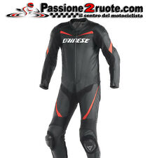 Tuta pelle intera Dainese Racing black red moto leather suit 1 piece