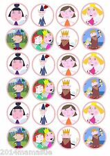 24 x BEN & HOLLYS  LITTLE KINGDOM FAIRY / CUPCAKE TOPPERS WAFER CARD RICE PAPER