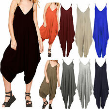 ST015 Celeb Girl Lagenlook Cami Strappy Baggy Harem Jumpsuit Playsuit Dress Top