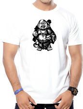 Round Neck Pure Cotton Printed(Laughing Budhha) T-Shirts for Men