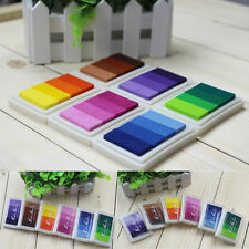 Oil Based Ink Pads Craft Rubber Stamps Paper Fabric Colors Gradient DIY