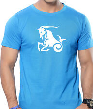 Plain Round Neck Graphic T-Shirts for Men - Capricorn