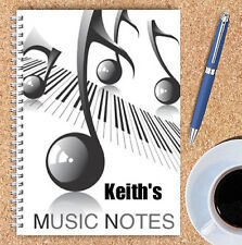 A5 & A4 PERSONALISED NOTEBOOKS, NOTE BOOK, NOTE PAD, 50 LINED OR BLANK /19