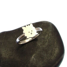 Handmade 925 Sterling Silver Westie Dog Ring - Stacking Ring