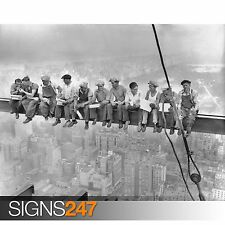 LUNCH ON A SKYSCRAPER MEN ON GIRDER NEW YORK (1017)  Poster Print A0 A1 A2 A3 A4